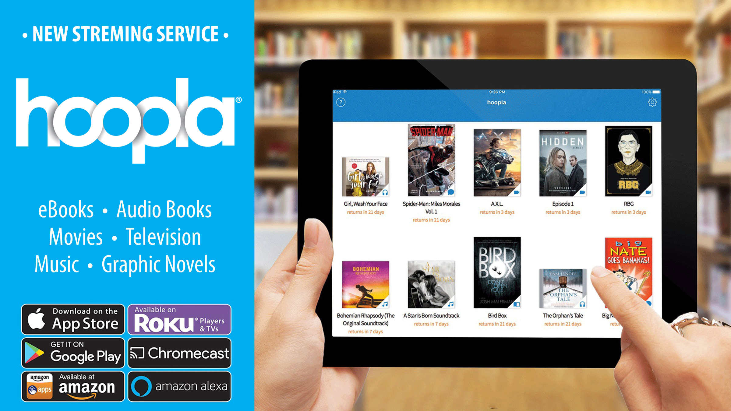 Hoopla - New Streaming Service