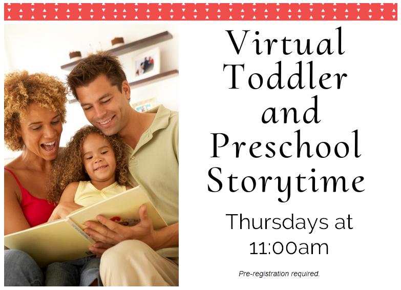 Virtual - Toddler/Preschool Storytime